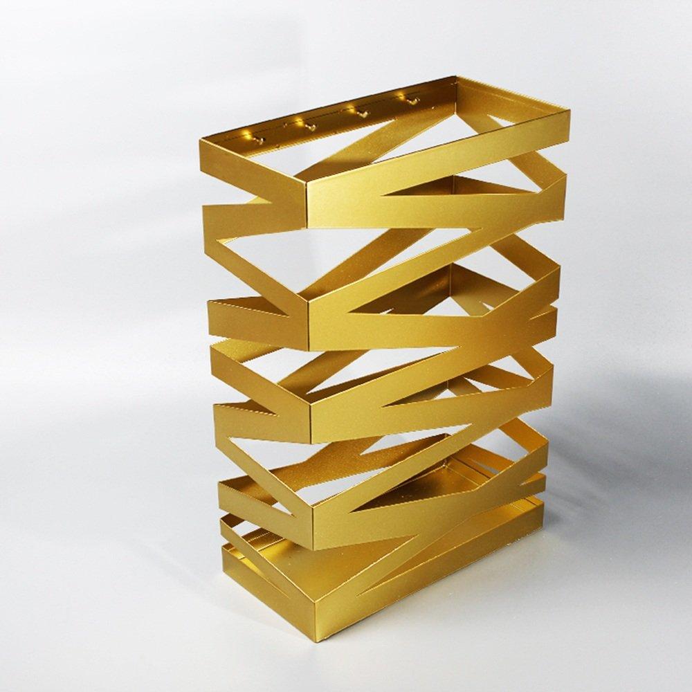 KFXL 傘スタンド/アイロン/傘収納棚/傘収納桶/家庭用傘棚(3色展開可能) (色 : ゴールド) B07F1QXLM7 ゴールド ゴールド