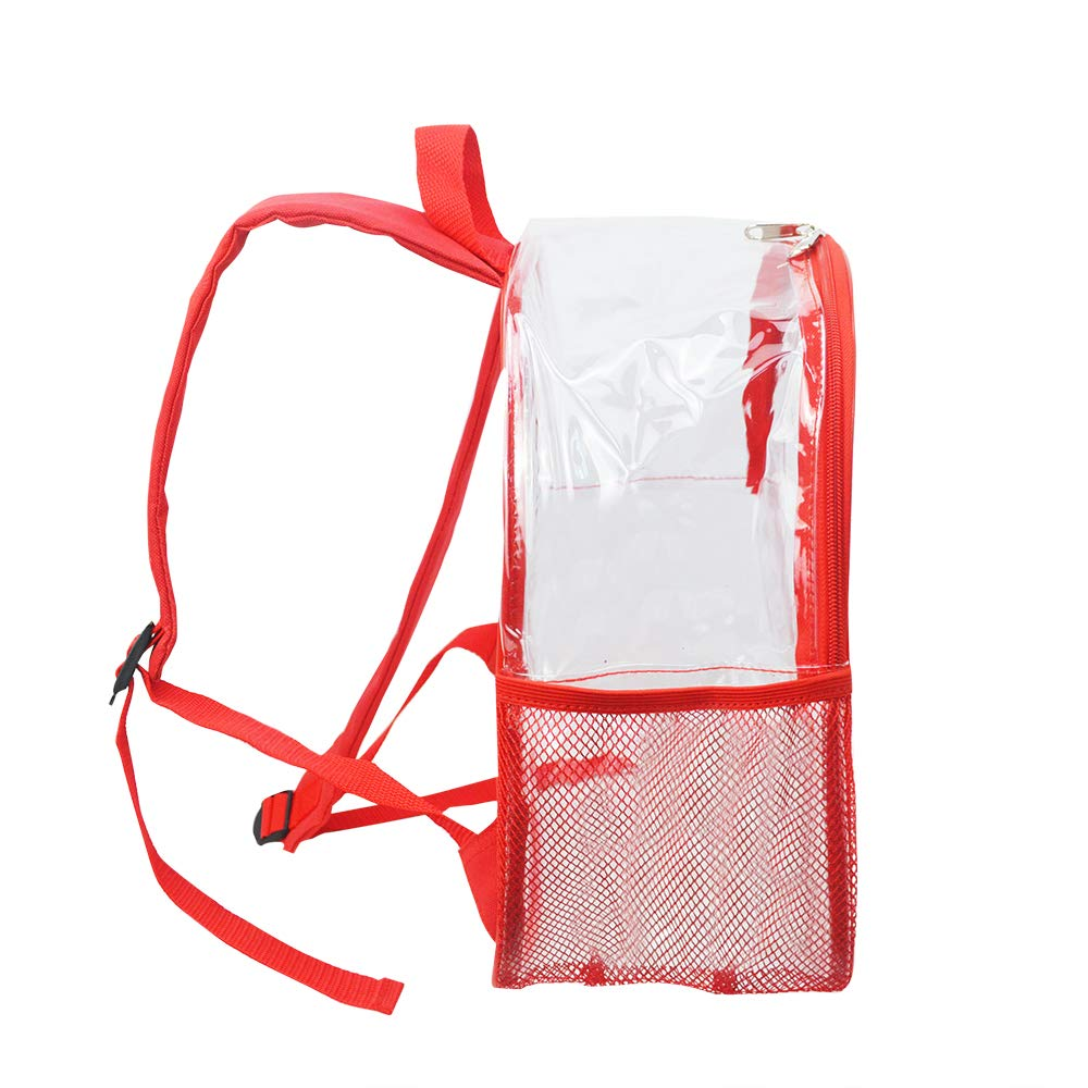 Stadium Approved Clear Backpack Heavy Duty/Cold-Resistant Transparent Backpack for Concert, Security Travel &Stadium(Red) by Magicbags (Image #6)