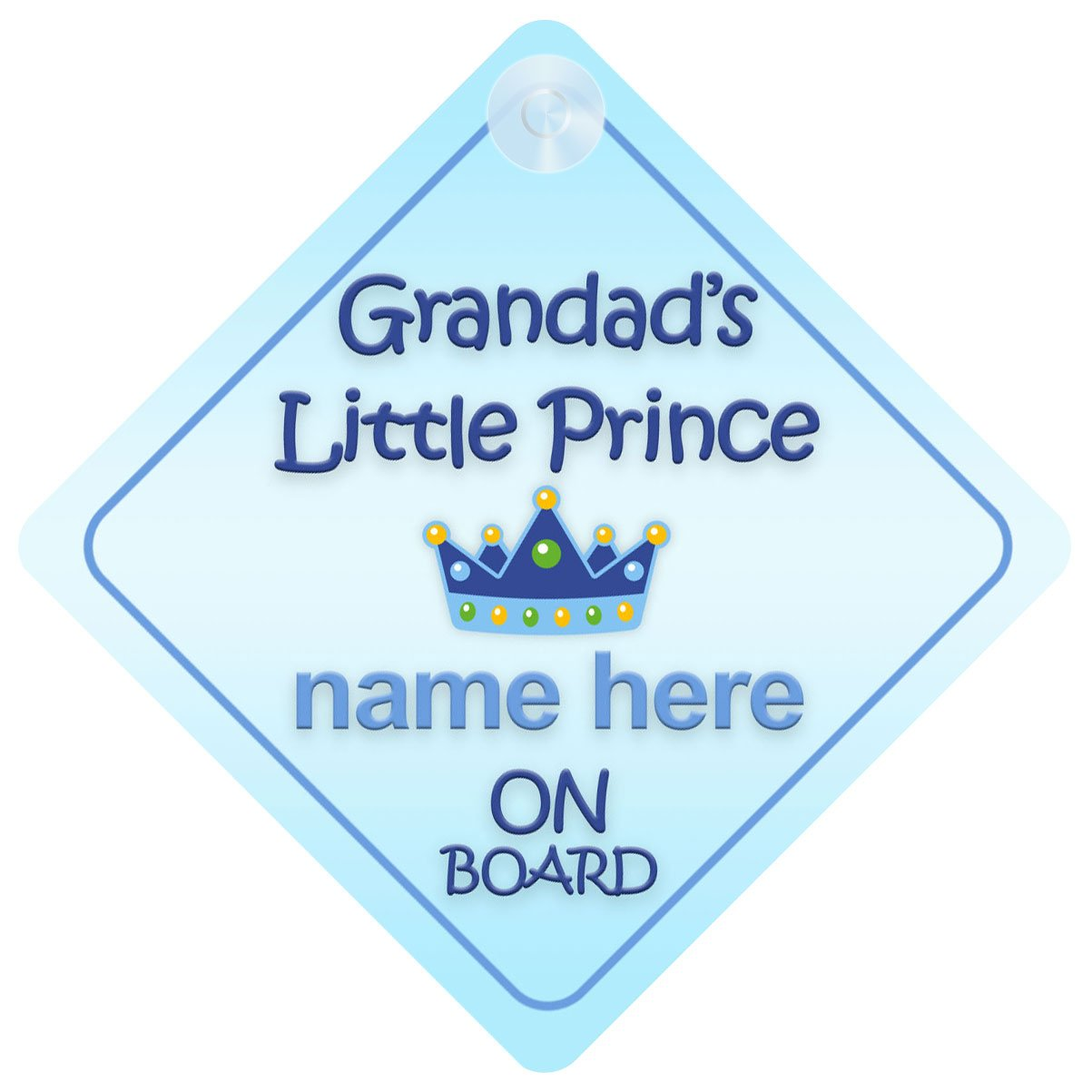 Grandad's Little Prince On Board Car Sign New Baby / Child Gift / Present Quality Goods Ltd