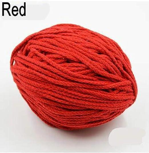 AOM Cuerda de cordón Trenzado Decorativa de Color Grueso de 5 mm ...