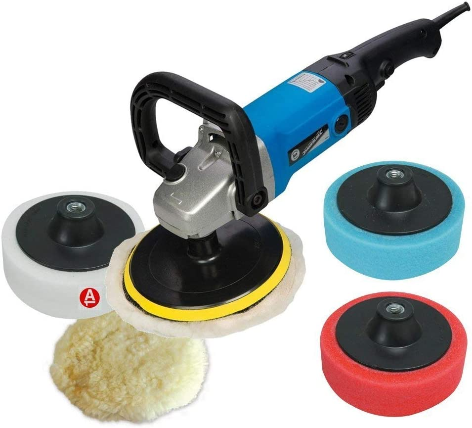 7 Heads NEW Silverline Trade Car Polisher Kit