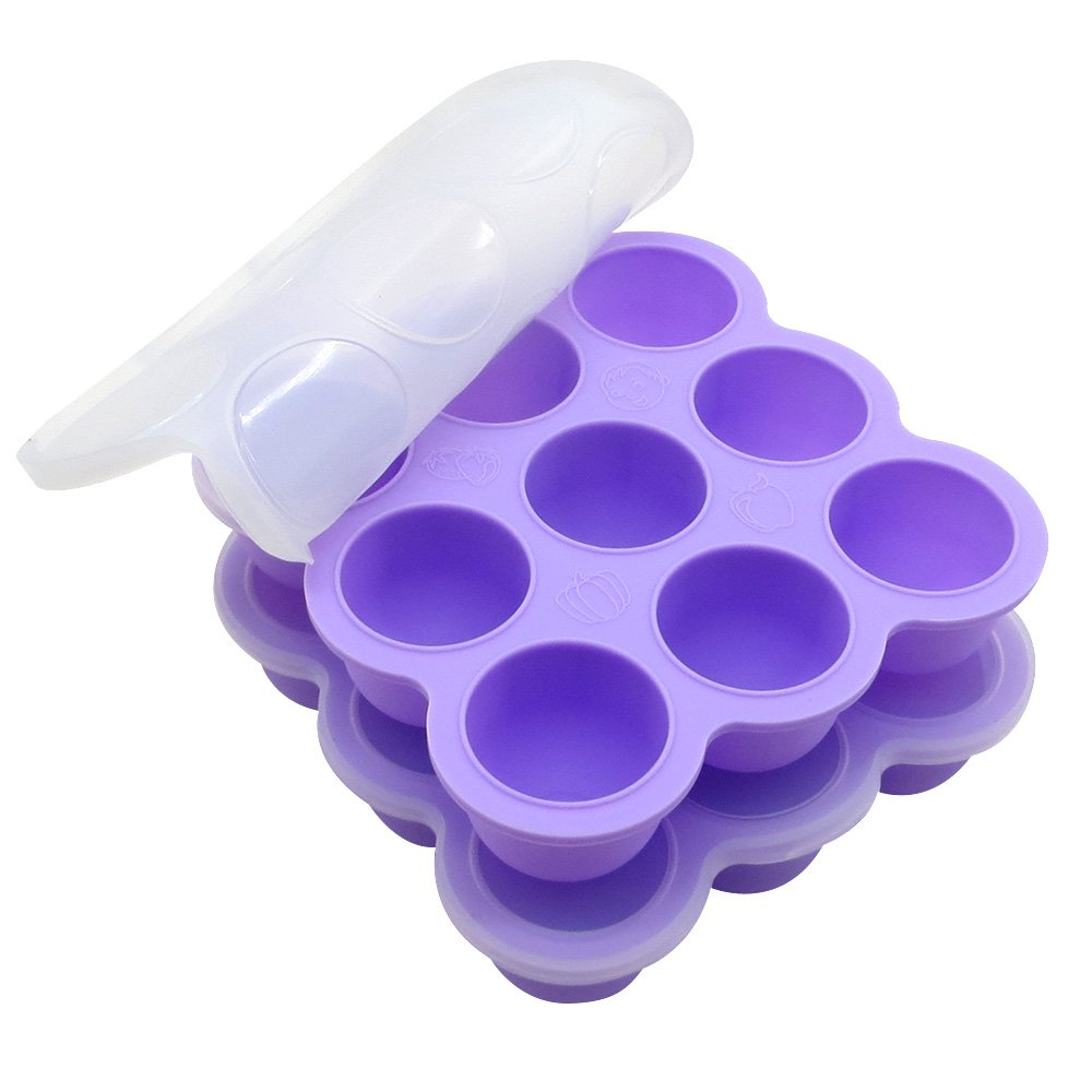 Suntake 2Packs Silicone Ice Cube Trays