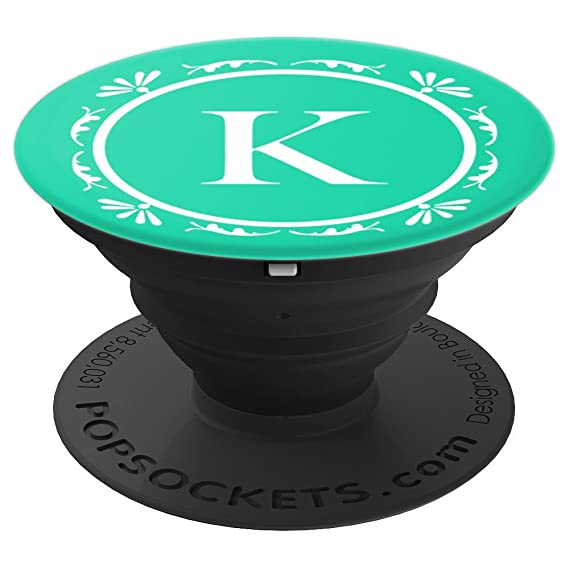 Amazon com: Monogram Letter K PopSocket Grip - PopSockets Grip and