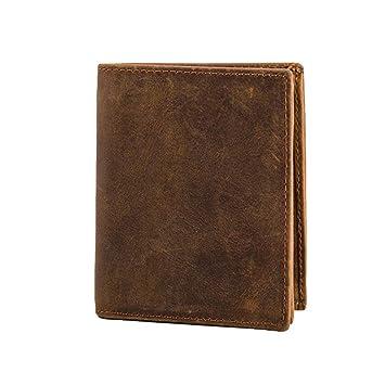Skitor Pequeña 6 Ranuras para Tarjetas Carteras RFID Bloqueo Tarjetas De Crédito Monederos Negocios Piel Billetera Casual Slim Carteras Hombre: Amazon.es: ...