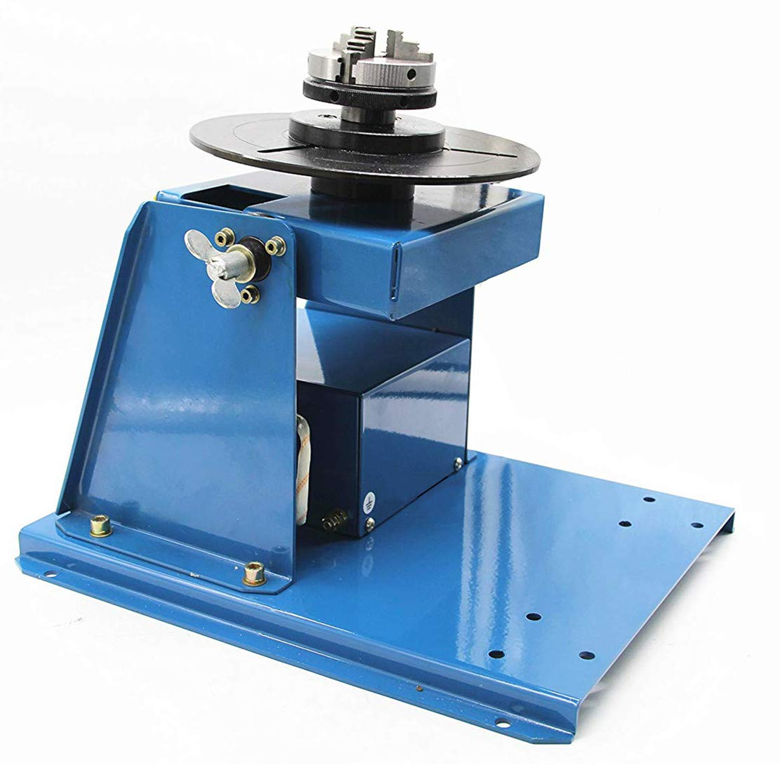 Hanchen Rotary Welding Positioner 0-90º Turntable Table for Welding Pipe Workpiece 60/80mm Chuck Foot Switch with CE Certificate
