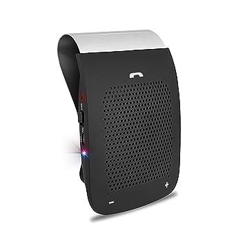 Bluetooth 4.1 Manos Libres Coche Kit, slopehill Inalámbrico Altavoz de Coche Auto Power ON con Sensor de Movimiento Integrado,Reducción de Eco y Ruido ...