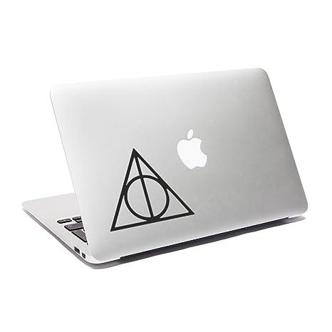 ericraft Reliquias de la Muerte Adhesivo Harry Potter Vinilo Adhesivo para MacBook Coche para Ventana para portátil