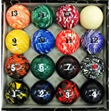 Iszy Billiards Marble/Swirl Pool Table Ball Set