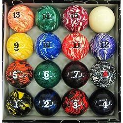 Iszy Billiards Art # Marble Swirl Pool Table Billiard Ball Set