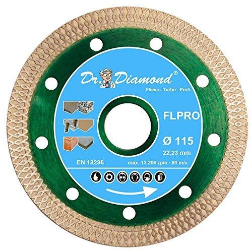 4 opinioni per Dr. Diamond Disco diamantato da taglio diamantato, TURBO professionale 115mm,