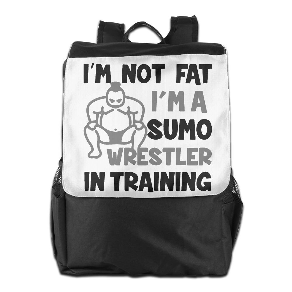 ZHONGRANINC I'm Not Fat Sumo Wrestler In Training Personality Outdoor Men And Women Travel Backpack Painting The Picture On The Backpack by ZHONGRANINC