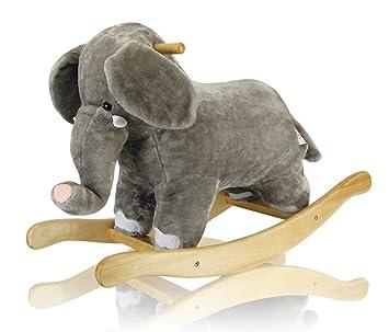 Schaukeltier Elefant Schaukelpferd Pluschtier Schaukelelefant