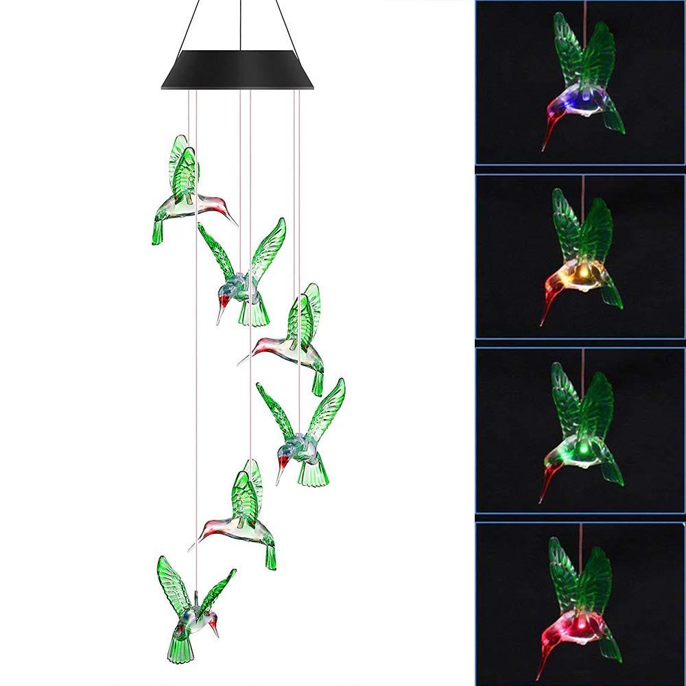 Solarleuchte Windspiel für Weihnachten, MYSWEETY Solar Kolibri ...