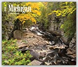 Michigan, Wild & Scenic 2018 14 x 12 Inch Monthly Deluxe Wall Calendar, USA United States of America Midwest State Nature (Multilingual Edition)