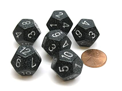 Amazon.com: Chessex Speckled 18mm 12 Sided D12 Dice, 6 ...