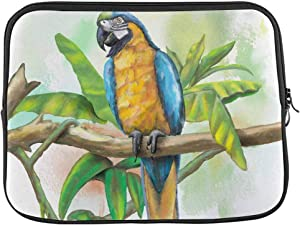 Blue and Gold Macaw Laptop Sleeve Case 15 15.6 Inch Briefcase Cover Protective Notebook Laptop Bag