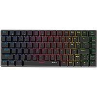 KKmoon AJAZZ AK33 Linear Action Mechanical Keyboard Gaming E-sport LED Colorful Keyboard 82 Keys USB Wired Anti-Ghosting…