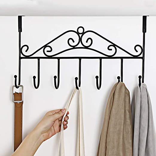 12 COAT HOOKS DOOR HANGER PEGS RACK DECORATIVE CLOTHES WALL HOOK HAT WALL METAL