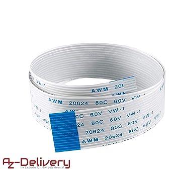 AZDelivery Cable de cinta flexible de repuesto Flex Cable 30cm ...