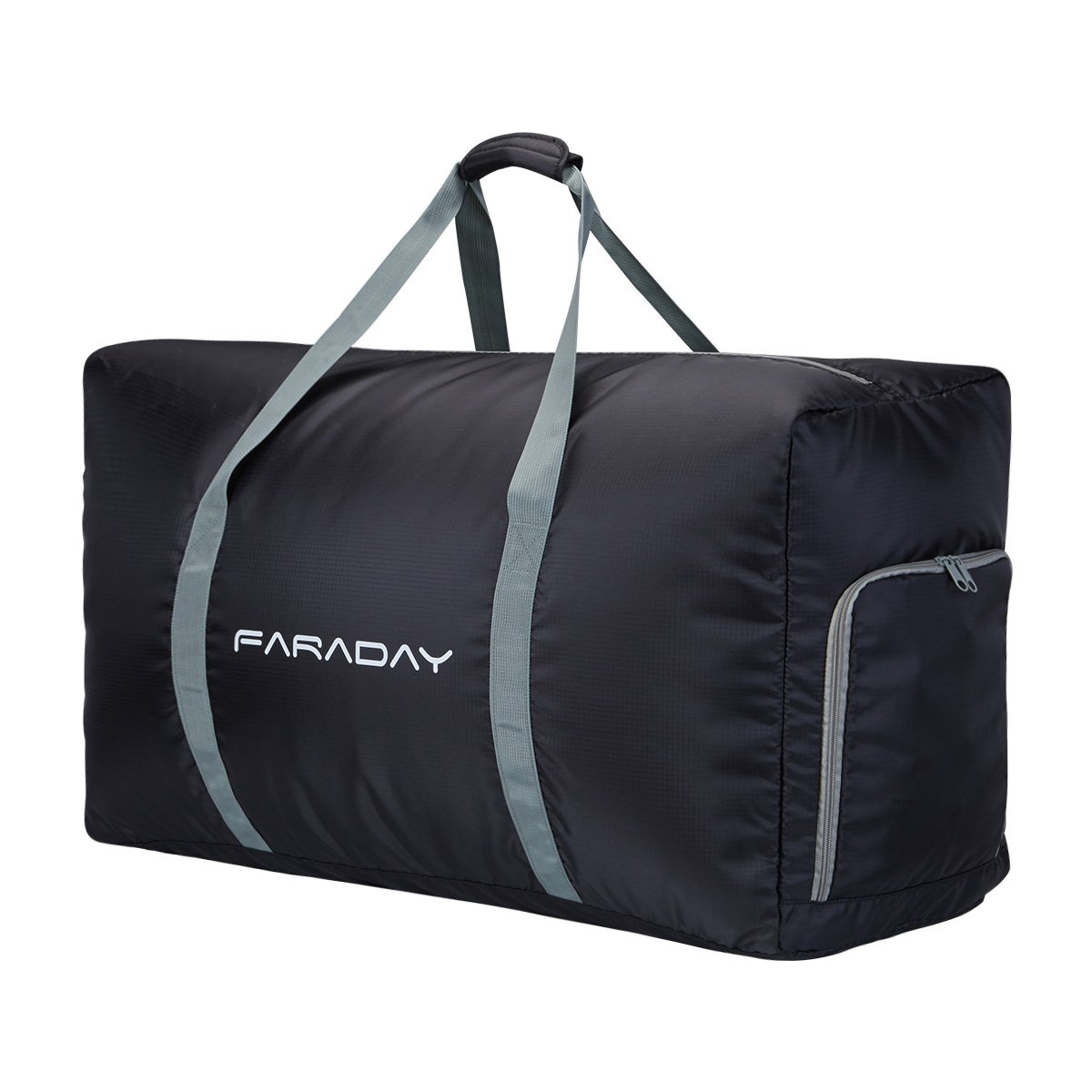 Foldable Travel Duffle Bag 120L with Extra Large and Lightweight for Luggage Gym Sports (Black)