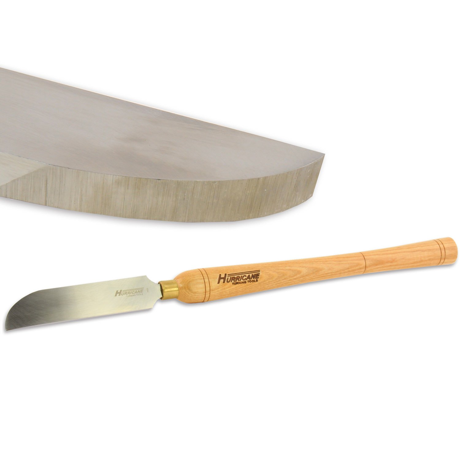 Hurricane Woodturning Right Side Curved Scraper, 1 1/2'' Wide, High Speed Steel w Handle, HTT-120