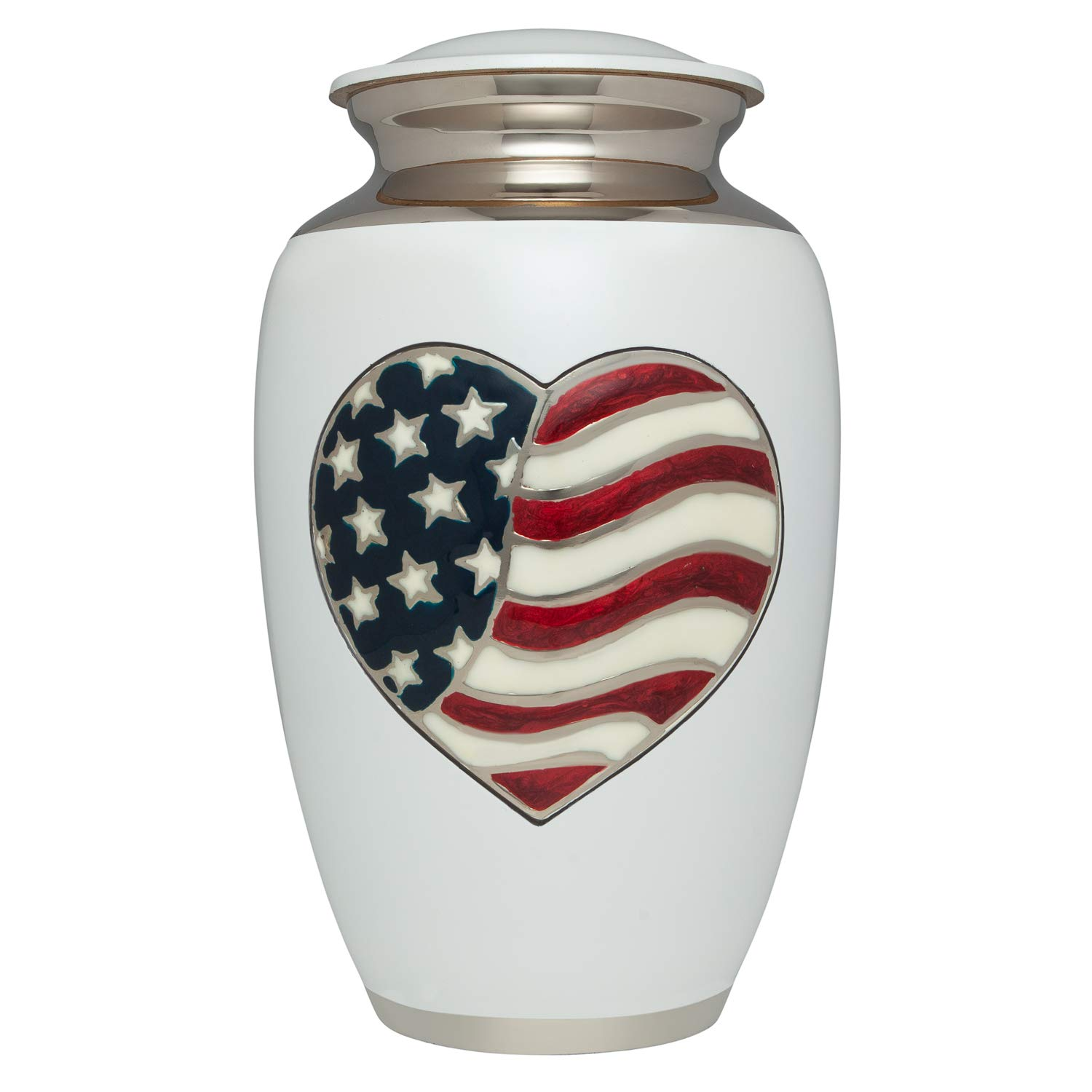Eternal Flame Red Funeral Urn with Silver Rose Ansons Cremation Urn Memorial or Cemetery Burial Urn for Human Ashes Large Size fits The Remains of an Adult up to 220 lbs Ansons Urns Aluminum