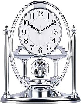 LNDDP Relojes sobremesa, Reloj Mesa Escritorio Péndulo Cristales ...