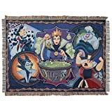 Product picture for Disneys Villains, Vile Villains Woven Tapestry Throw Blanket, 48 x 60 , Multi Color