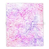 Society6 Pink Purple Paisley Love 88'' x 104'' Blanket