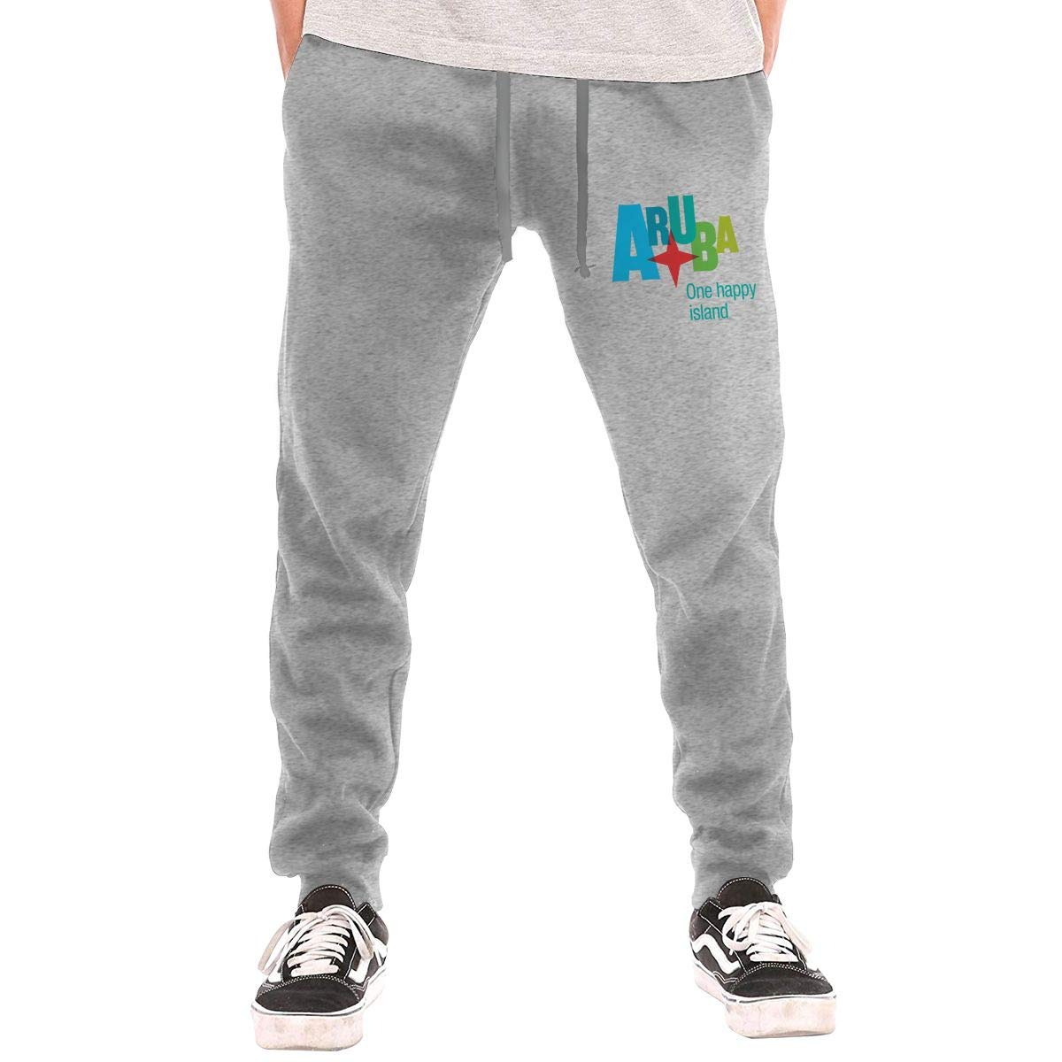 One Drawstring Waist,100/% Cotton,Elastic Waist Cuffed,Jogger Sweatpants