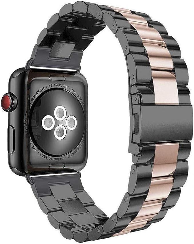 Aottom Compatible con Apple Watch Series SE 6 5 4 3 2 1, Correa Acero Inoxidable, Correas del Reloj para Hombre Mujer, Pulsera de Repuesto Hombre Correa para Apple Watch 42mm/Apple Watch 44mm: Amazon.es: Electrónica