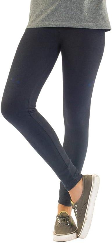 Leggings de algodón para mujer opacos. Largo hasta el tobillo: Amazon.es: Ropa y accesorios