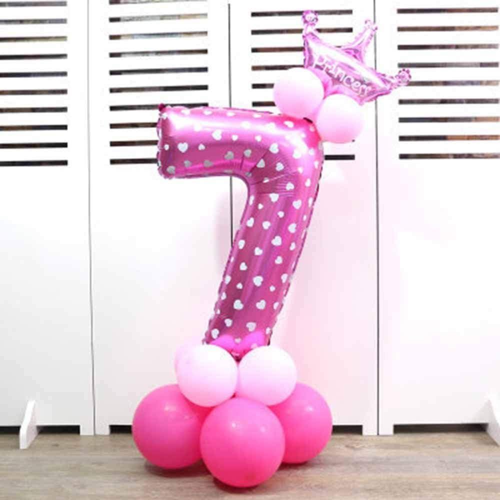 Num/éros 0-9 Ballons Foil f/ête danniversaire de la Couronne ballons Forme Digit