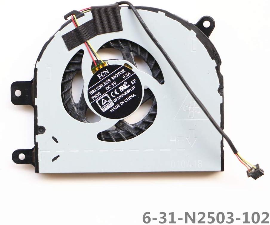 Laptop Replacement Cooler Fan for Clevo N240wu N870hl CPU Cooling Fan 6-31-N2503-102 FCN DFS531005FL0T FH30