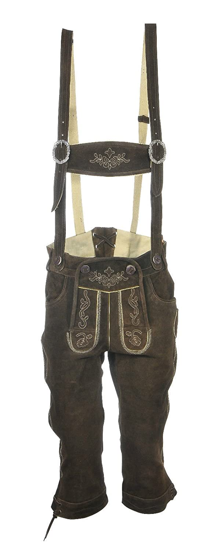 Men's costume Leather Pants Breeches Franz Dark Brown - Brown - 38
