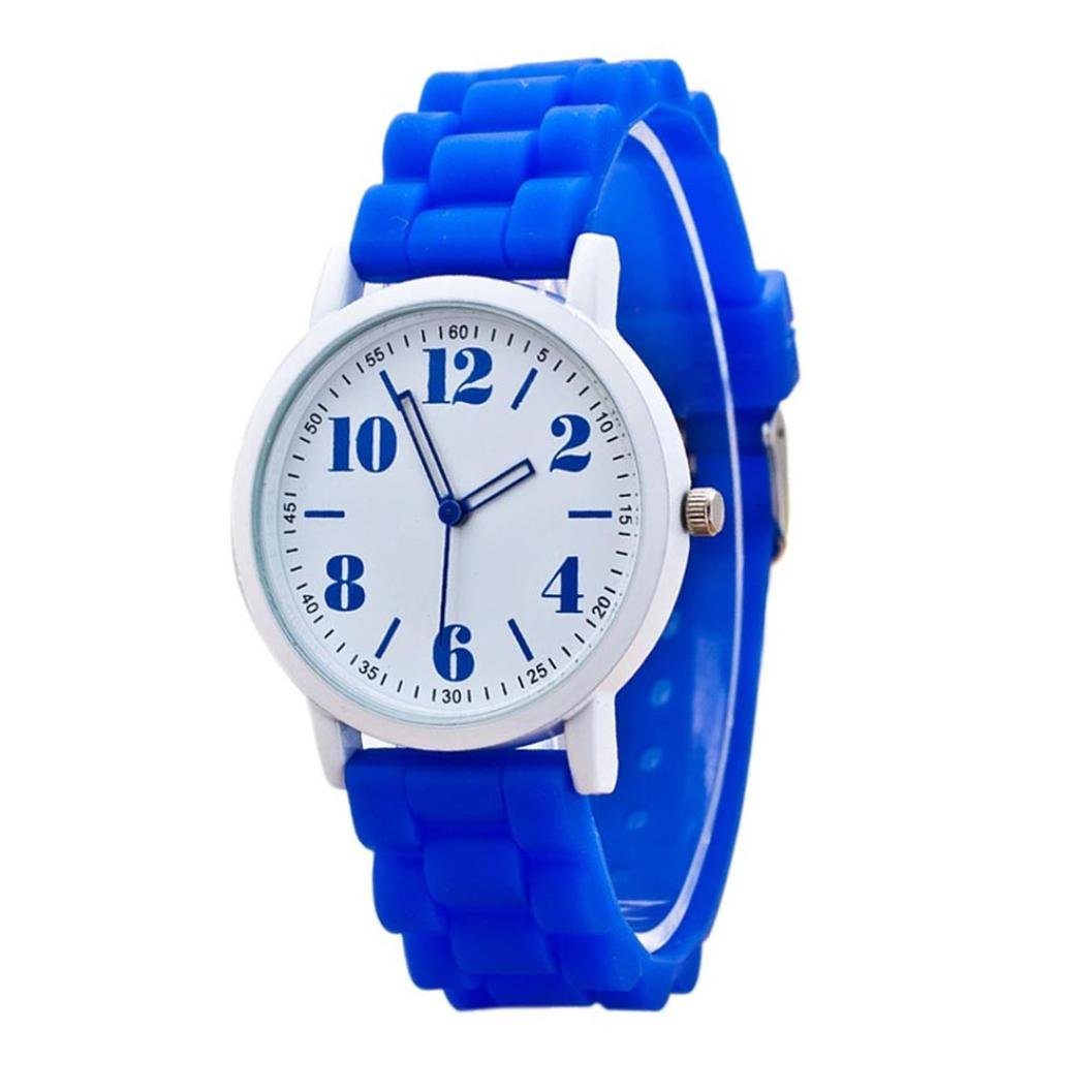 Pocciol Women Love Watch,2018 New Women Wrist Watchs Morecome Women Silicone Motion Quartz Watches Clock (Blue)