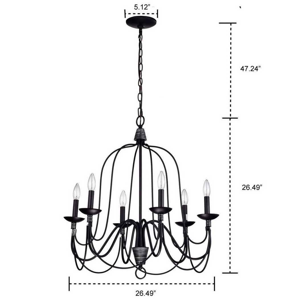 Claxy ecopower lighting industrial vintage 6 lights candle claxy ecopower lighting industrial vintage 6 lights candle chandeliers amazon arubaitofo Images