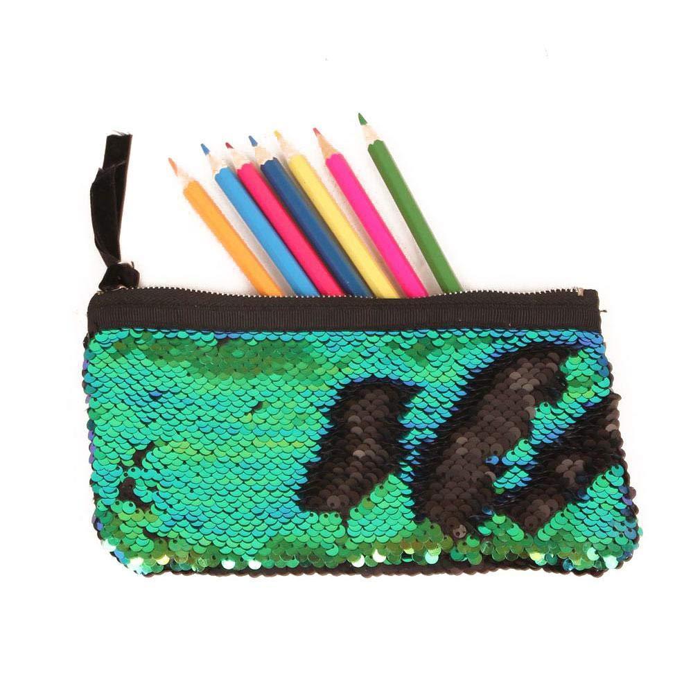 Magic Sequin Pencil Case, Sequin Makeup Pouch Bag Cosmetic Bag, DIY Reversible Sequins Handbag Glitter Pencil Case Leegoal