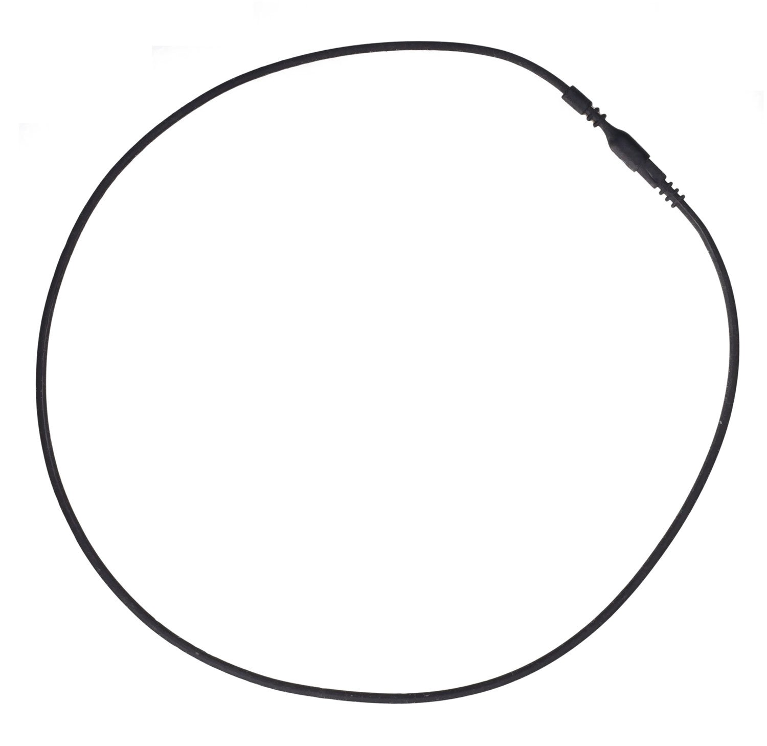 uGems 10 18-inch Black Silicone Rubber Tubing Cord Necklaces with Locking Clasp 2mm by uGems