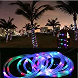 String Lights,Naladoo 1Pcs 7M 50 LED Waterproof Solar Rotatable Hose Lights Outdoor Garden Tree Stairs Fence Camping LED String Lamp Decor