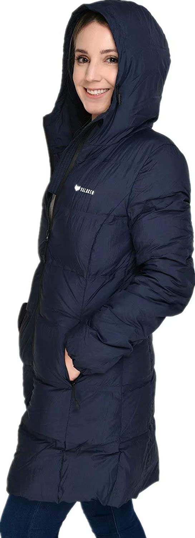 Beinia Valuker Womens Seamless Hooded Down Coat Jacket Puffer Parka Jacket