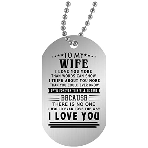 econvenience store to my wife dog tag custom i love you gifts for wife on