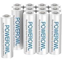 POWEROWL Pilas Recargables AAA Alta Capacidad, 12 Piezas (Baja Autodescarga, Precarga) Ni-MH Recargable AAA Pilas…