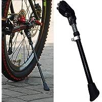 Soporte trasero para bicicleta – Soporte de aleación de aluminio para bicicleta de montaña, soporte lateral para bicicleta con pie de goma para neumático de 16 pulgadas, 20 pulgadas, 24 pulgadas, 26 pulgadas + 700 bicicletas de carretera