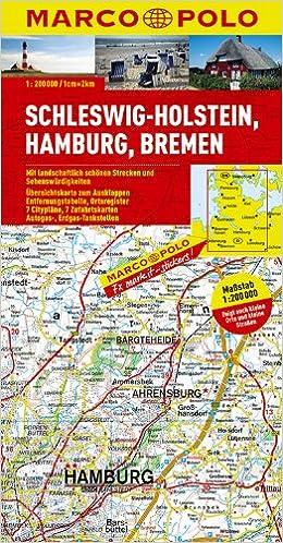 Marco Polo Karte Deutschland 01 Schleswig Holstein Hamburg