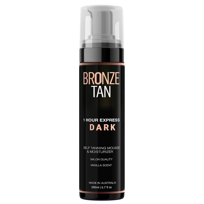 Bronze Tan Dark Moisturizing Self Tanning Mousse and Self Tanner For Fair to Medium Skin Tones Salon Quality Vanilla Scented (200 ml/ 6.7 oz)
