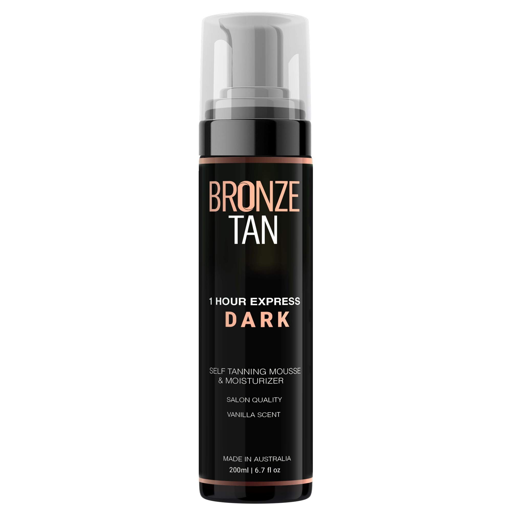 Bronze Tan Dark Moisturizing Self Tanning Mousse and Self Tanner For Fair to Medium Skin Tones Salon Quality Vanilla Scented (200 ml/ 6.7 oz) by Existing Beauty