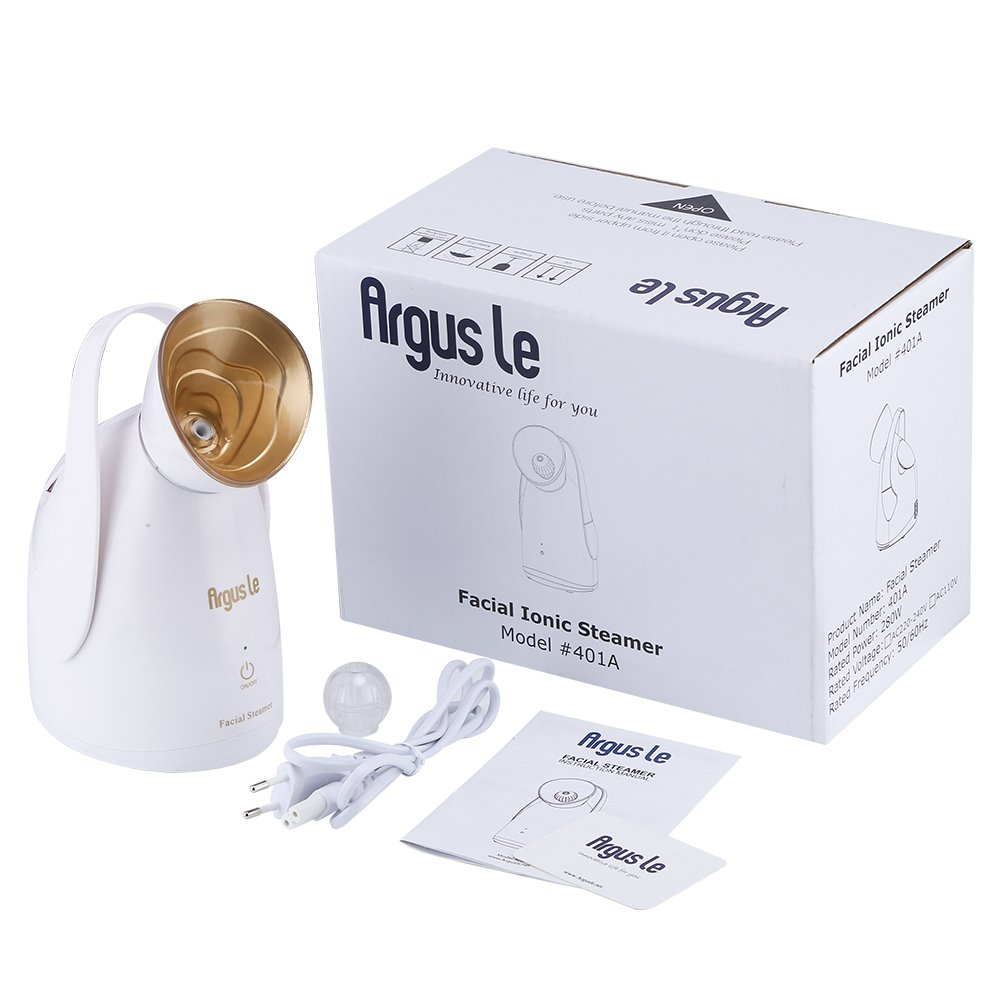 Amazon.com : Argus Le Professional Spa Home Nano Ionic Facial Steamer Machine with Touch Button-Special Pollen Spa Box- Skin Care Facial Atomizer Facial ...