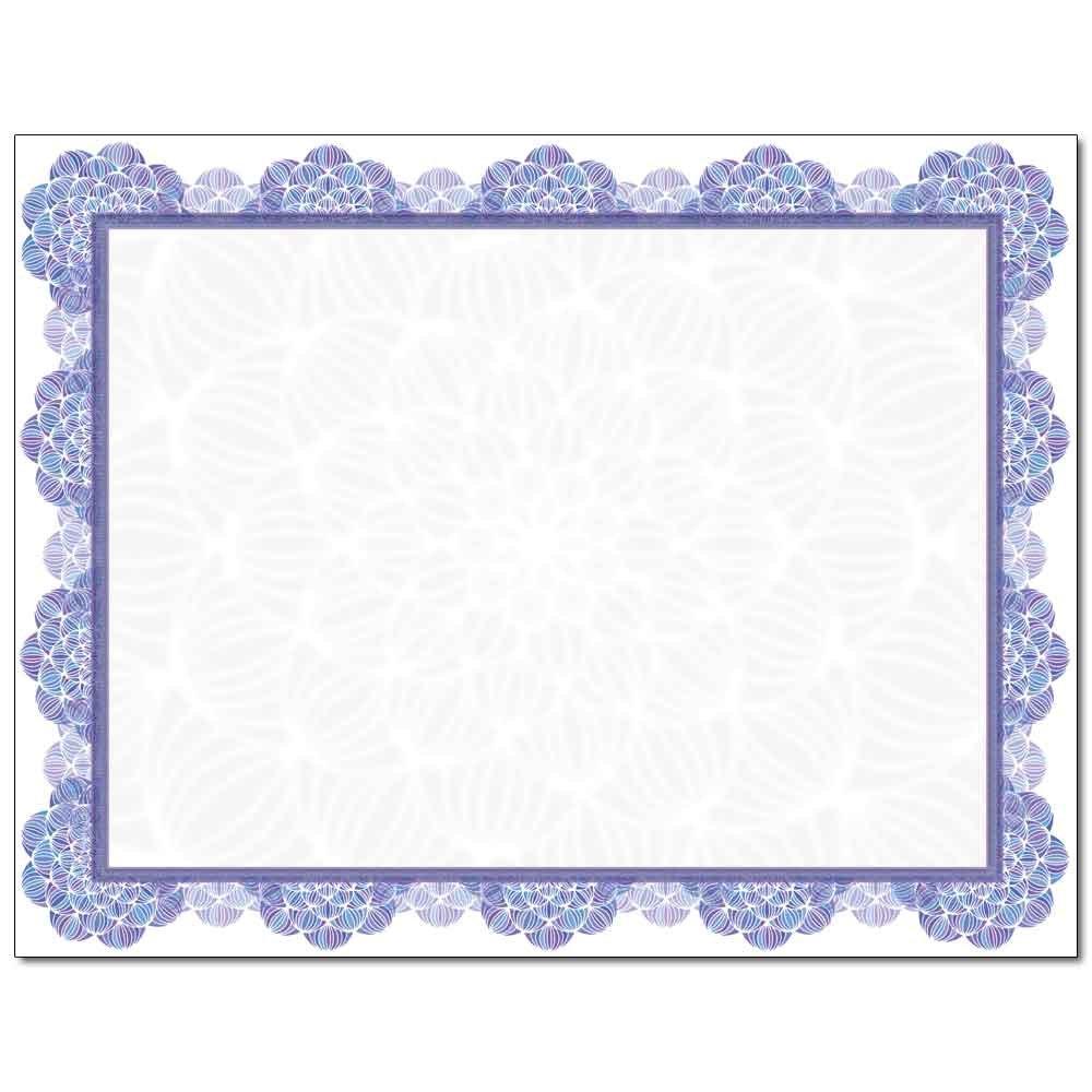 Blue Medallion Laser & Inkjet Certificate Border Paper, 100 pack
