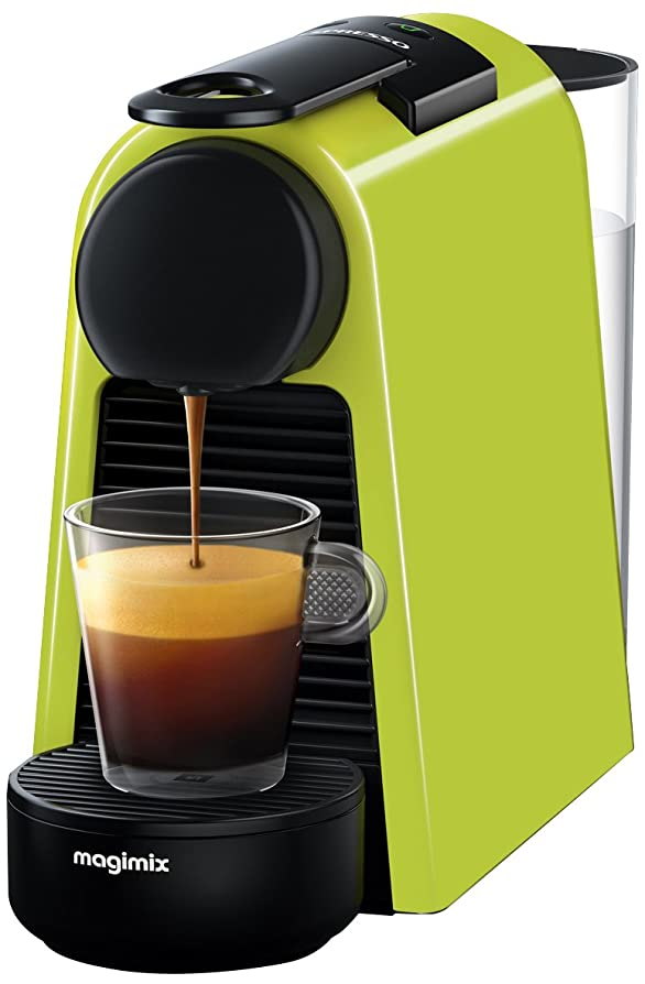 Nespresso Essenza Mini with Aeroccino Coffee Machine, Lime Green ...